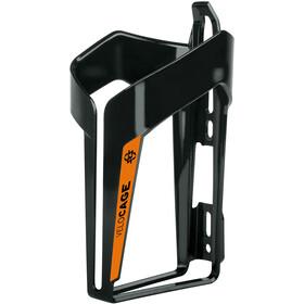 SKS Velocage Flaschenhalter schwarz glänzend/orange